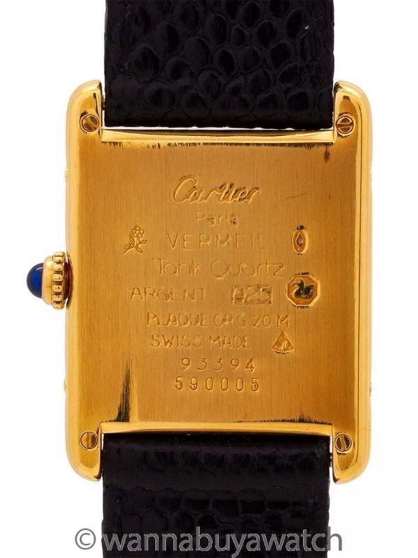 Cartier Tank Louis Man's Vermeil circa 2000