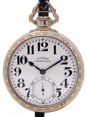 "Dueber Hampden ""New Railway"" Pocketwatch circa 1918"