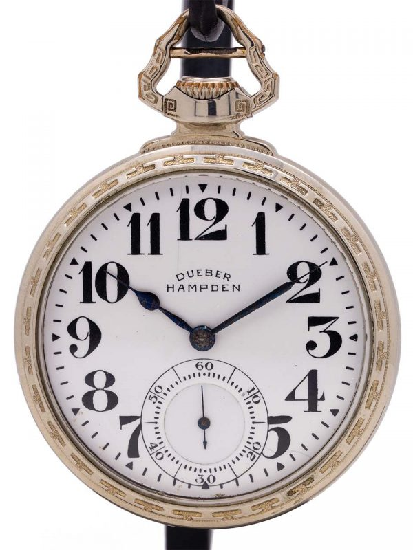 "Dueber Hampden ""New Railway"" Pocketwatch circa 1918"