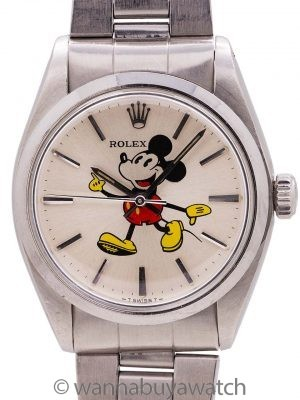 "Rolex SS Oyster Precision ref. 6426 ""Mickey Mouse"" circa 1972"