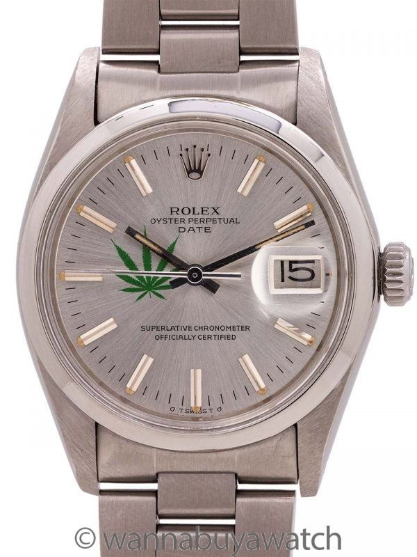 """Rolex Oyster Perpetual Date ref 1500 """"4/20 Edition"""" circa 1974"""