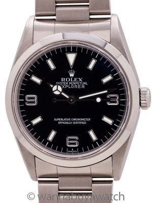"Rolex Explorer ""Swiss Only"" ref# 14270 w/ Box & Papers circa 1999"