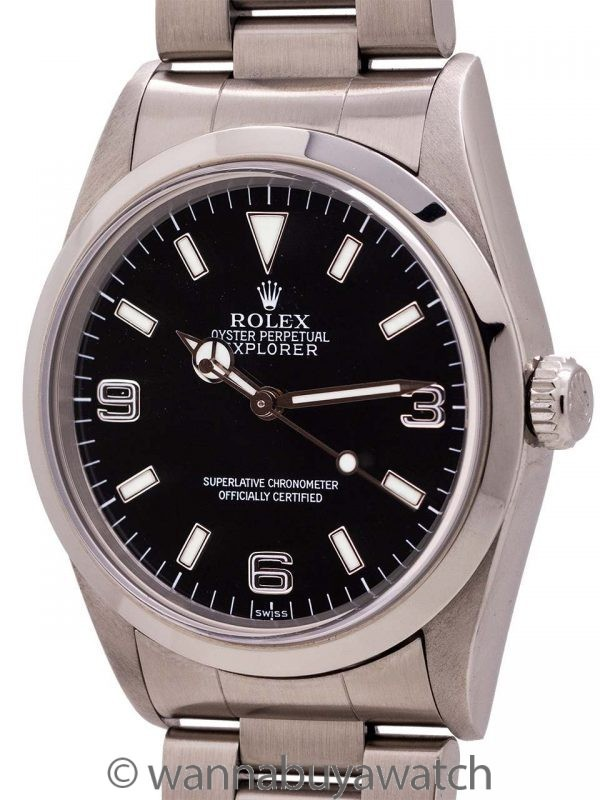 """Rolex Explorer """"Swiss Only"""" ref# 14270 w/ Box & Papers circa 1999"""