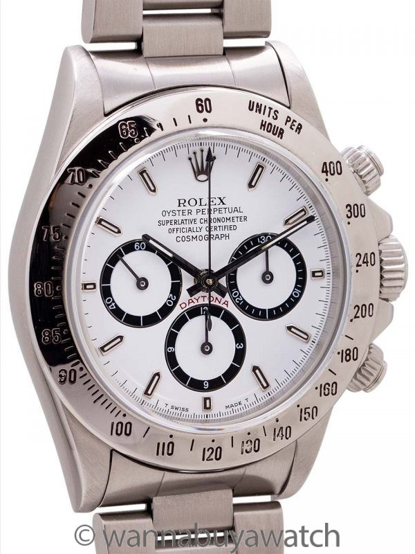 """Rolex """"Zenith"""" Daytona ref 16520 w/ Inverted 6 circa 1989"""