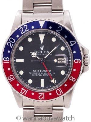 Rolex SS GMT-Master ref 16750 circa 1980