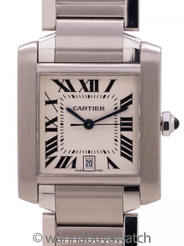 Cartier SS Tank Francaise Man's Automatic circa 2000's