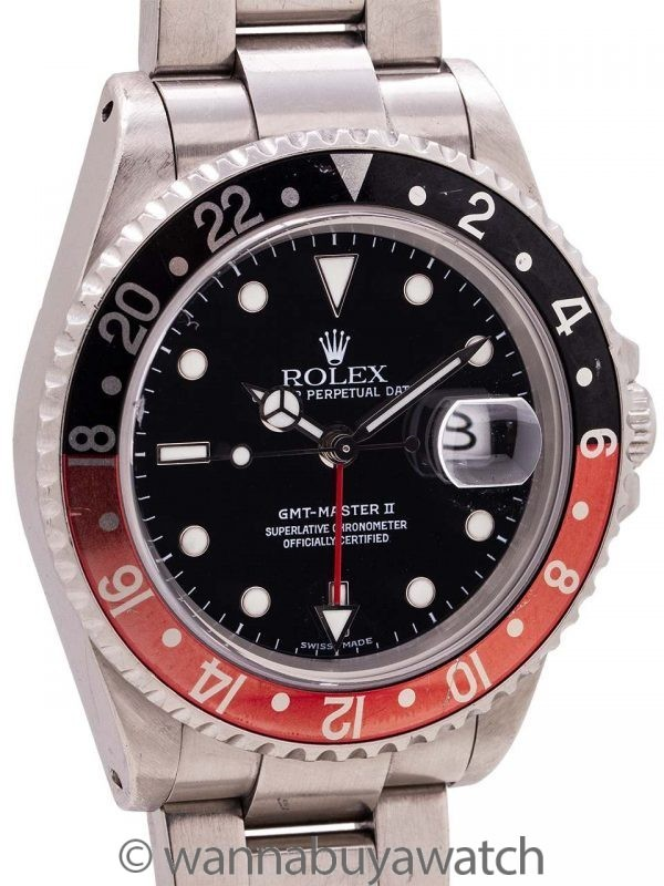 "Rolex GMT II ref 16710 ""Coke"" Stainless circa 2001"