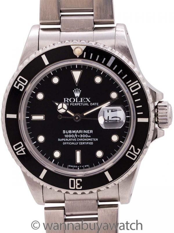 Rolex Submariner ref# 168000 Transitional Model circa 1987