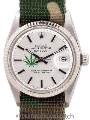 Rolex Datejust ref 1601 SS/14K Cannabis Logo circa 1967