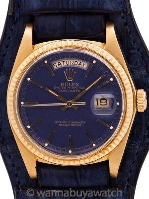 "Rolex 18K YG Day Date ref# 1803 circa 1976 ""Blue Moon"""