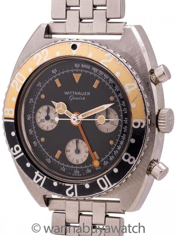 Wittnauer Chronograph Valjoux 724 GMT circa 1960's