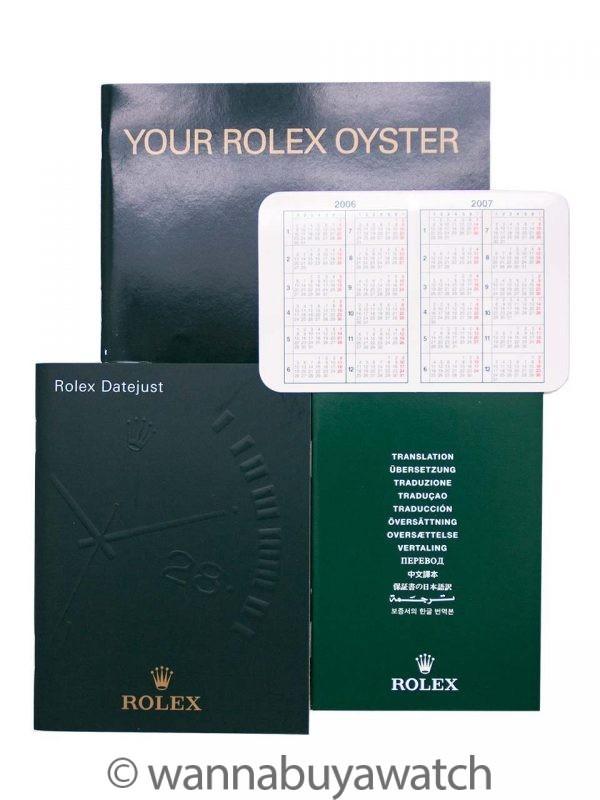 Rolex Datejust SS/18K WG ref # 116234 circa 2006 B & P