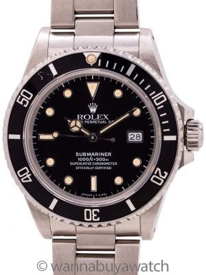 Rolex Submariner ref# 16800 circa 1986 Box & Papers