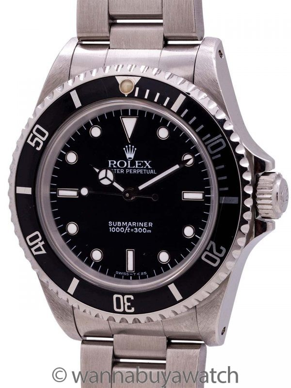 Rolex Submariner ref 14060 Stainless Steel circa 1990