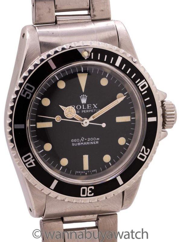 """Rolex Submariner ref 5513 """"Serif Dial"""" circa 1972"""