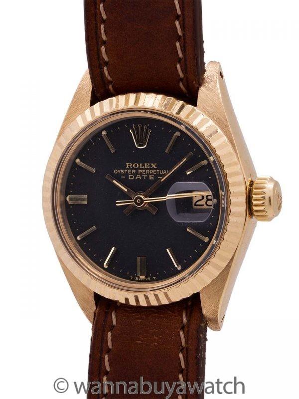 Lady Rolex Datejust ref 6917 18K YG circa 1974