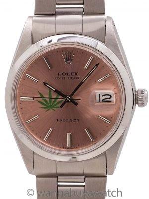 """Rolex SS Oysterdate Precision Ref. 6694 """"4/20 Edition"""" circa 1967"""