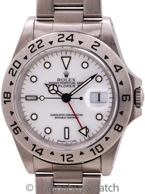 """Rolex Explorer II ref 16570 """"Polar"""" Tritium Dial circa 1996"""