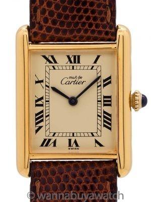 Cartier Tank Louis Man's Vermeil circa 1980's