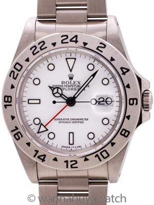 "Rolex Explorer II ref 16570 ""Polar"" Tritium Dial circa 1993 w/ Card"