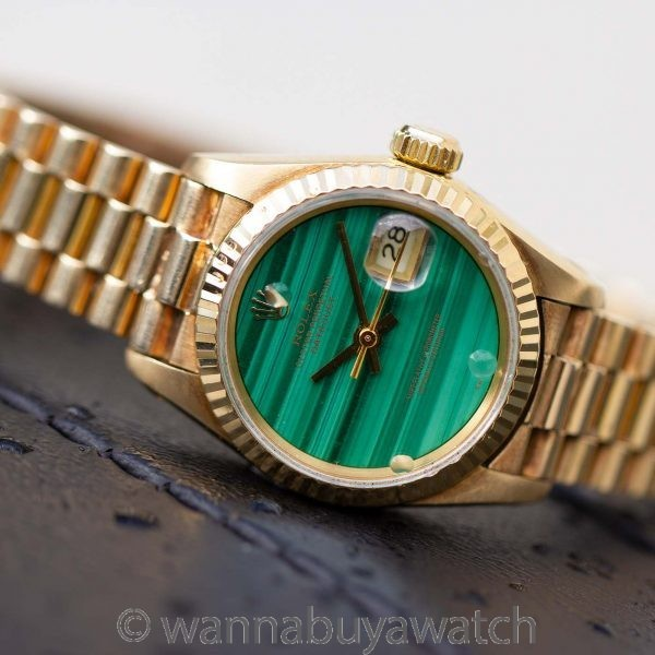 Rolex Lady President ref 69178 Malachite Dial circa 1991