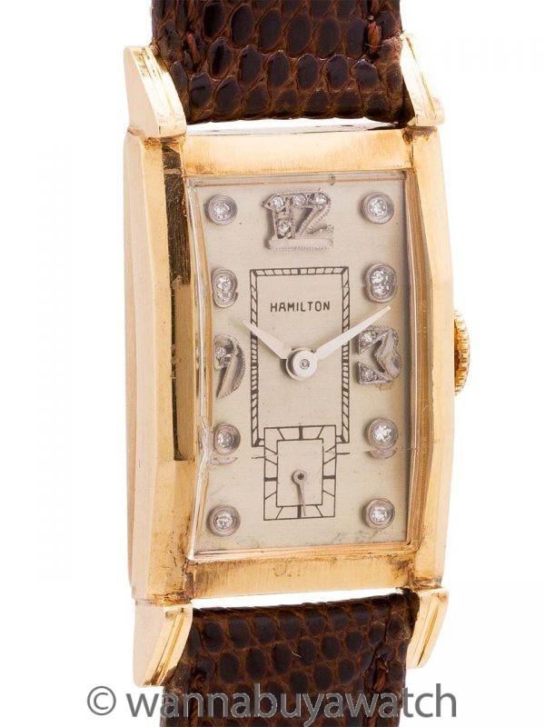 Hamilton 14K YG Diamond Dial circa 1950's
