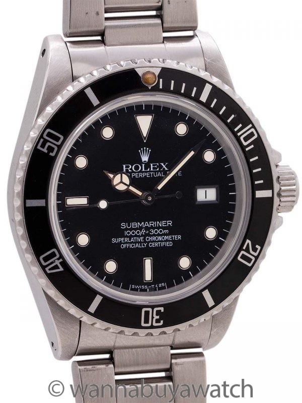 Rolex Submariner ref# 16800 Transitional Model circa 1985
