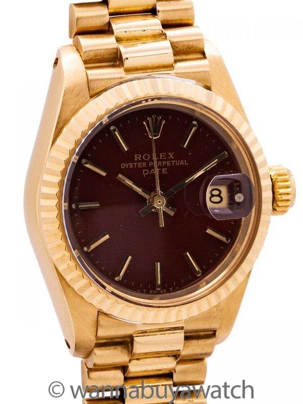 """Rolex Lady Datejust 18K YG ref 6916 """"Stella"""" Dial circa 1978"""