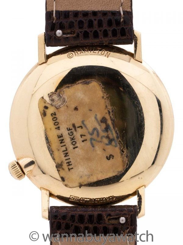 Hamilton Thinline 4002 Gold Filled circa 1962