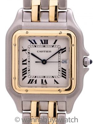 Cartier Panther Man's Stainless Steel/18K Jumbo circa 1990's