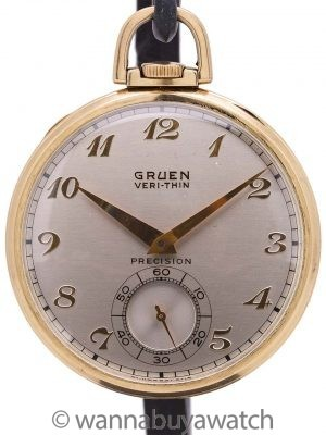 Gruen YGF 12-S Open Face Pocketwatch circa 1940's