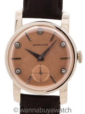 Hamilton 14K WG Diamond Dial circa 1950's