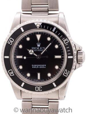 Rolex Submariner ref 5513 Tritium Gloss Service Dial circa 1972