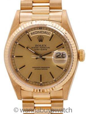 Rolex Day Date President 18K YG ref 18038 circa 1986