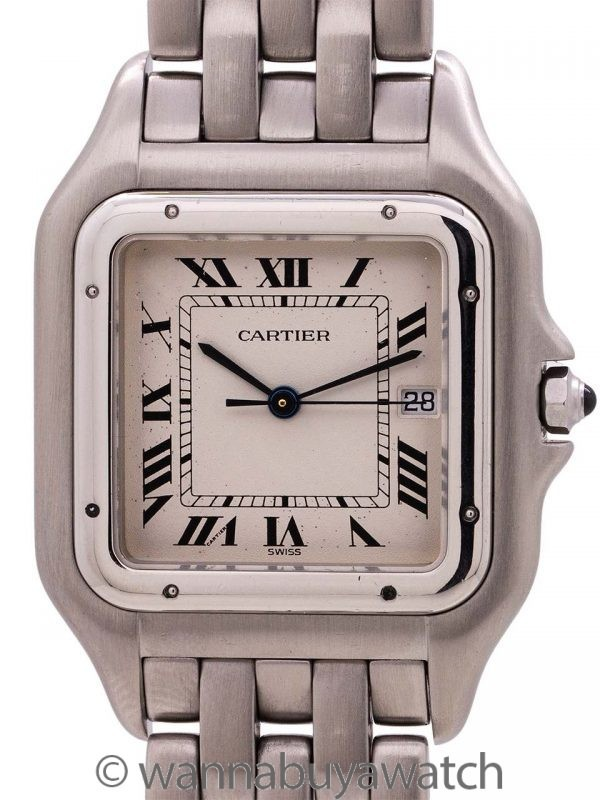 Cartier Panther Man's Stainless Steel Jumbo circa 2000's