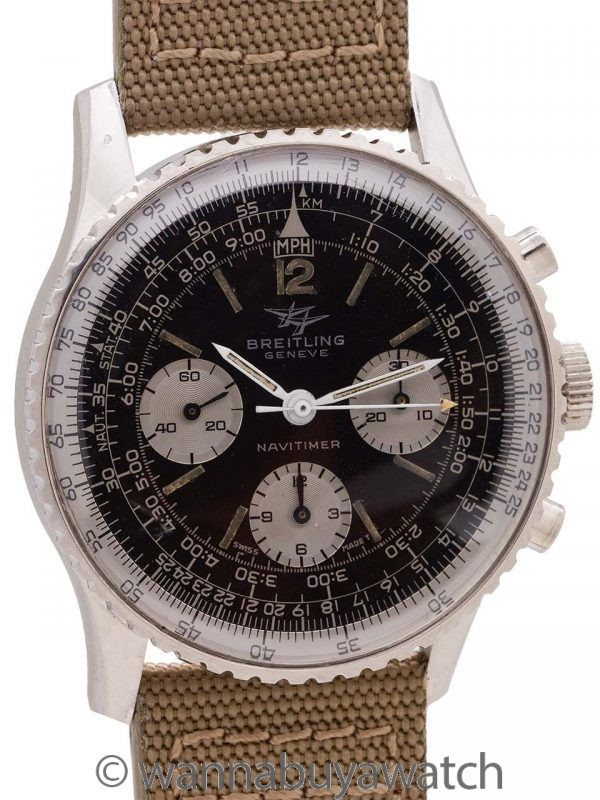"Breitling Navitimer ""Twin Jets"" Portuguese Import Stamp ref 806 circa 1966"