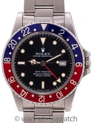 "Rolex GMT ref 16750 Transitional Rare ""No Date"" circa 1984"