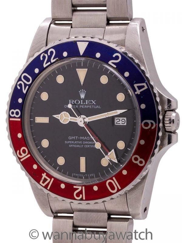 """Rolex GMT ref 16750 Transitional Rare """"No Date"""" circa 1984"""