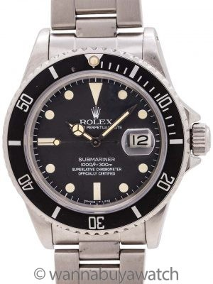 Rolex Submariner ref 16800 Matte Dial circa 1982