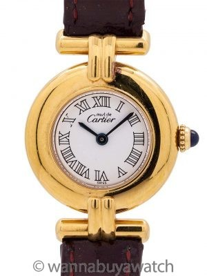 Cartier Colisee Vermeil circa 1990's
