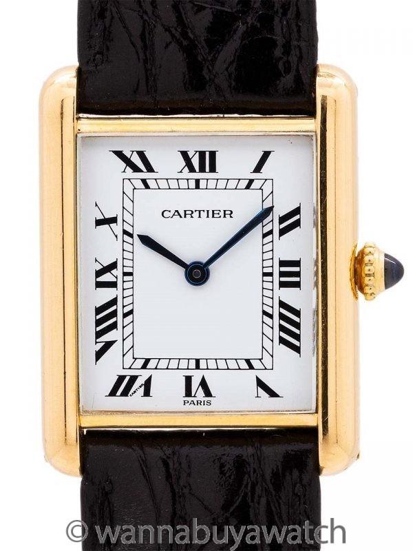 Cartier Tank Louis Man's 18K YG circa 1990's