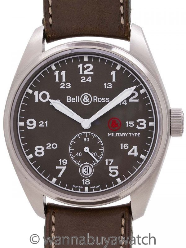 Bell & Ross 123 Military Type Ltd Ed circa 2008 B&P