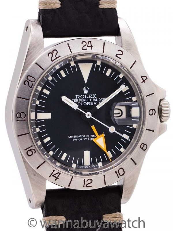 """Rolex Explorer II ref# 1655 aka """"Steve Mcqueen"""" circa 1978"""