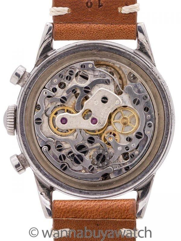 """Movado SS """"Sunburst"""" Chronograph circa 1950's"""