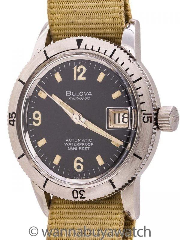 "Bulova Diver's ""Snorkel"" ref# 386-3 666 Feet circa 1960's"