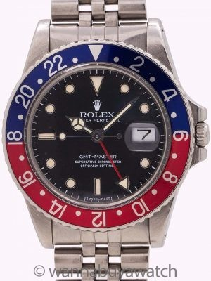 Rolex GMT ref 16750 No Date Spider Dial circa 1984