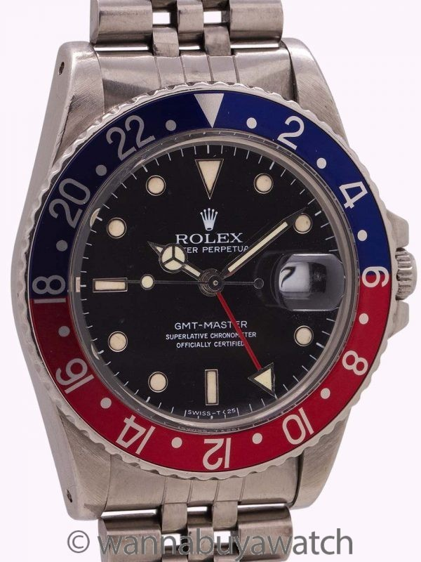 Rolex GMT ref 16750 early No Date Spider Dial circa 1984