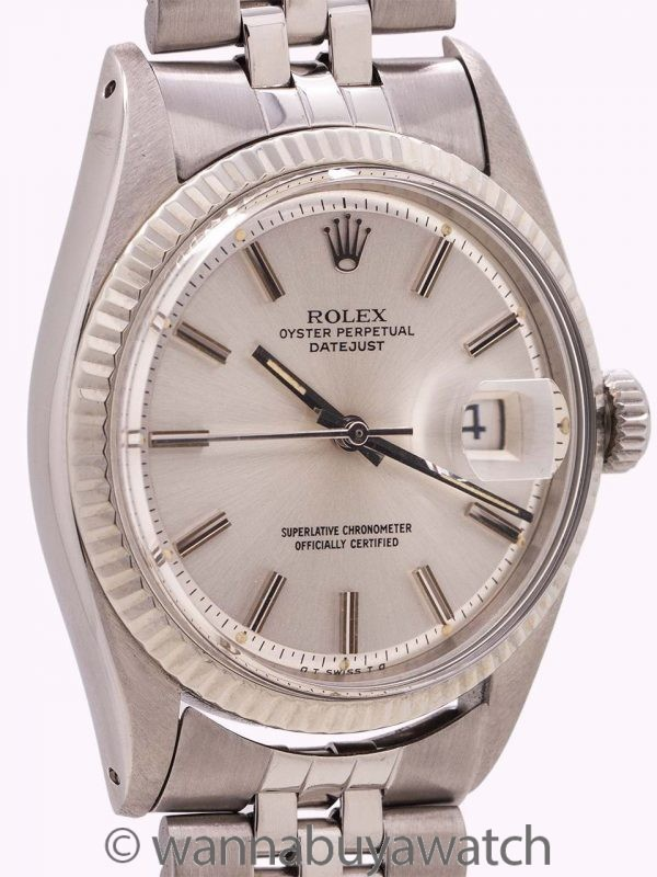 "Rolex SS Datejust ref 1601 Steel & 14K WG ""Sigma Dial"" circa 1973"