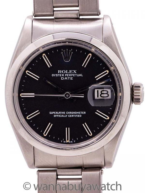 Rolex Oyster Perpetual Date ref 1500 Black Dial circa 1972