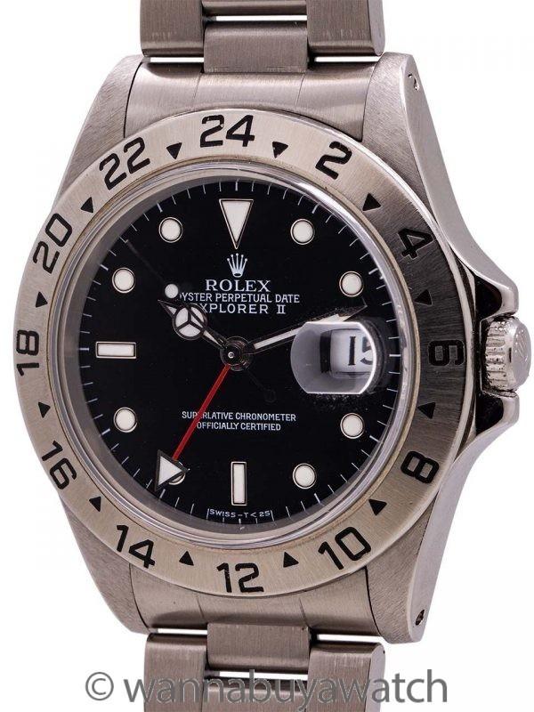 Rolex Explorer II ref 16570 Tritium Dial circa 1991